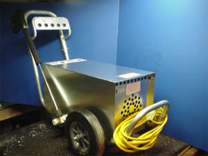 Hot water pressure washing cart