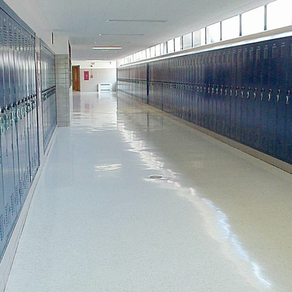 Floor Stripping Hallways
