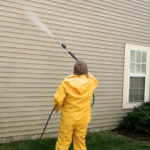 Cleaning exterior of building - Pressure Washing
